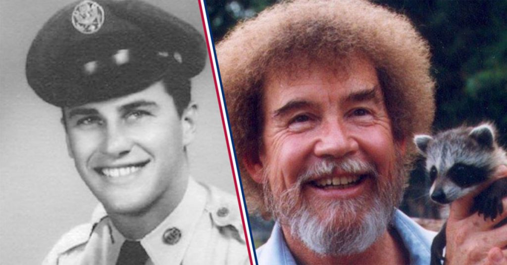 Bob Ross in his Air Force uniform