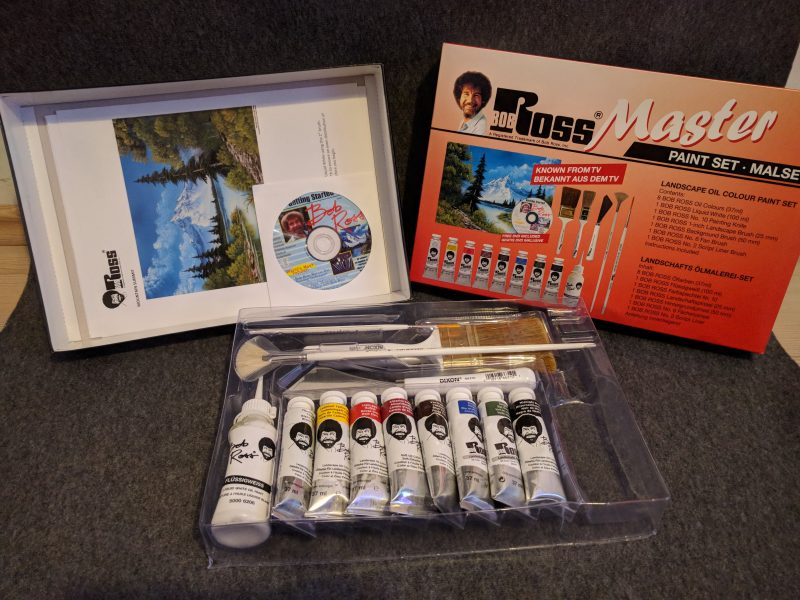 Content of the Bob Ross Master Paint Set