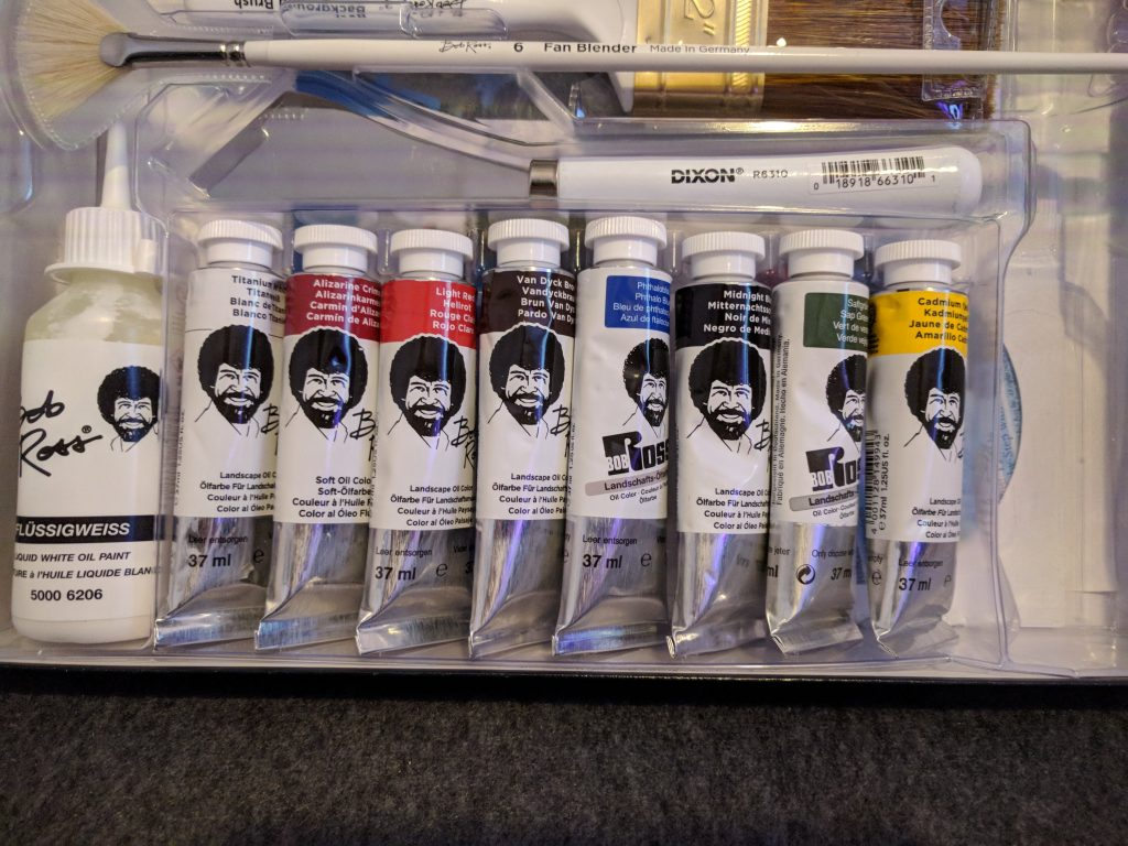 Paint included in the Bob Ross Master Set