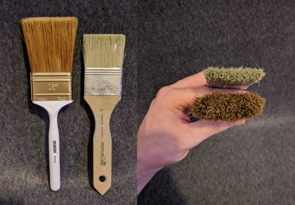 Comparison between Brushes
