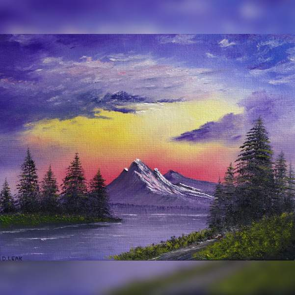 'pointyfeatures' version of 'Sunset Aglow'