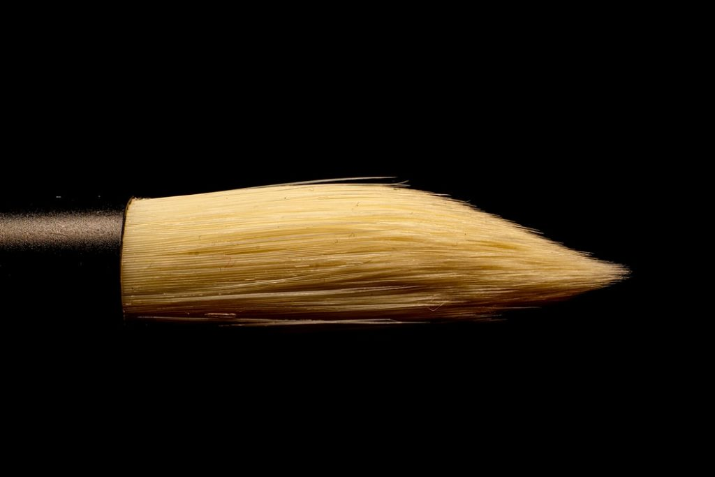 A nicely shaped painting brush.